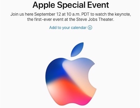 アップルは新商品発表会「Apple Special Event September 2017」を現地時間9月12日に開催