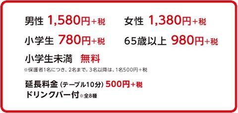 かっぱ寿司「食べホー」の料金