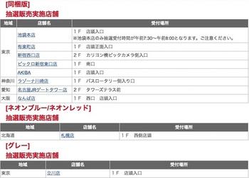 ビックカメラで実施する「Nintendo Switch」の抽選販売の店舗リスト
