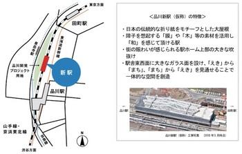 品川新駅(仮称)の位置と特徴について