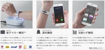第二世代wena wristに搭載されているスマートウォッチの代表的な3つの機能