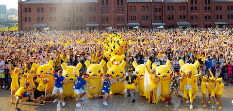 街型イベント「ピカチュウだけじゃない ピカチュウ大量発生チュウ!」を横浜みなとみらいエリア一帯で開催