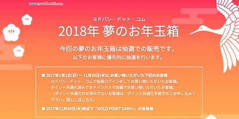 ヨドバシカメラの「2018年 夢のお年玉箱」は従来の先着販売から抽選販売に変更