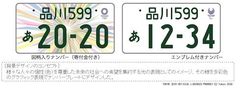 国土交通省は東京2020オリンピック・パラリンピックの特別仕様ナンバープレートのデザインを決定