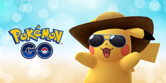 ポケモンGOはリリース2周年を記念して麦わら帽子とサングラスを着けた「サマースタイル」のピカチュウが登場